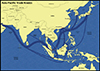 Trade Routes to China Through the Indian Ocean
