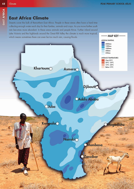 Eric Olason Cartographic Artist East Africa Climate Photo - Africa climate map