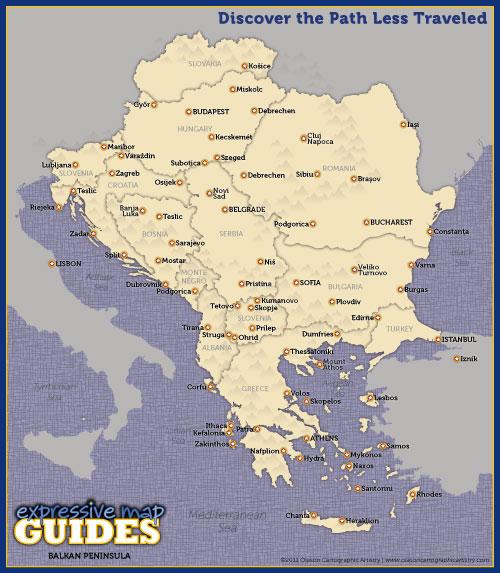 Eric Olason :: Cartographic Artist :: Balkan Peninsula, Expressive ...
