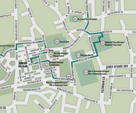 Eric Olason Cartographic Artist Istanbul Walking Tour Grand