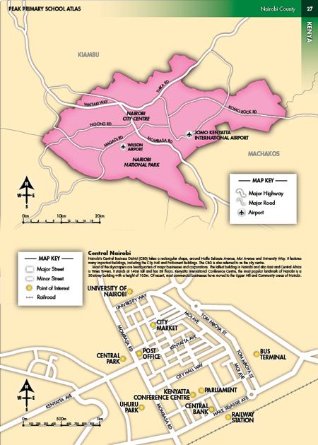 Eric olason cartographic artist nairobi district and central nairobi map gumiabroncs Image collections