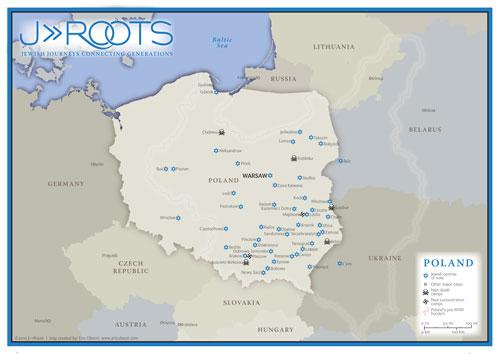Eric Olason Cartographic Artist Jewish Tours Of Poland Map - Tours map